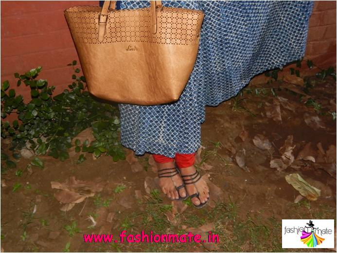 Handcrafted ethnic wear with lavie bag & chappals