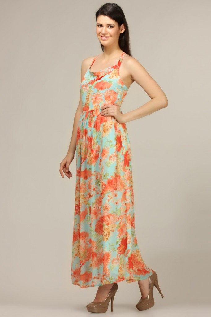 floral maxi gown for maternity
