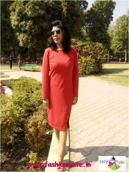 Vintage Red dress for valentine Day