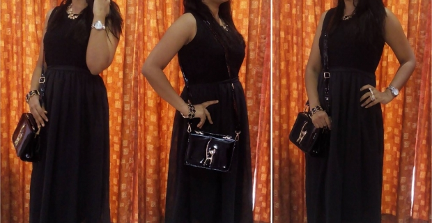 Two ways to style your wardrobe essential – Black Gown!