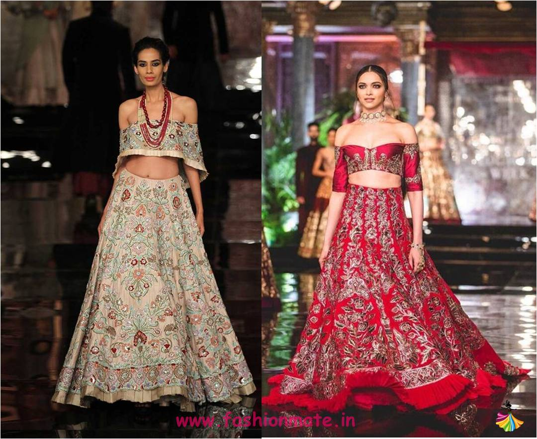 sexy-off-shoulder-top-lehenga-bridal-fashion-trends-2016