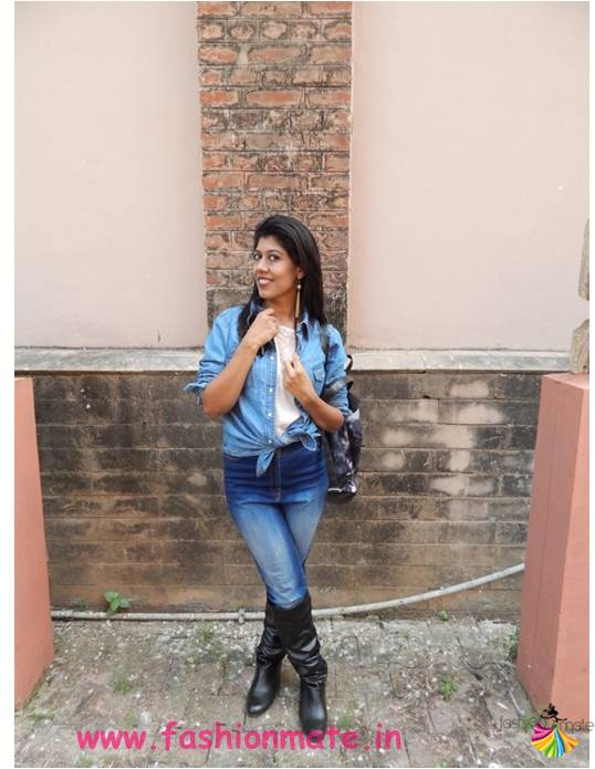 knotted-shirt-denim-boots-indian-blogger-fashion-look