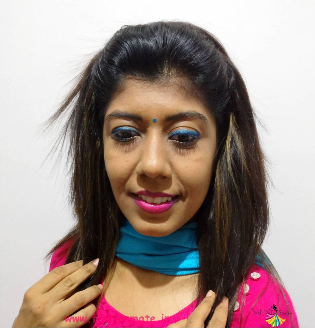 tourquoise eyeliner kohl rainbow makeup for summer ...
