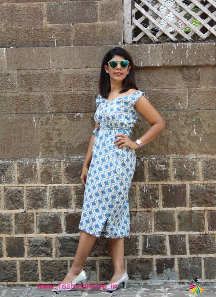 Fashion tips from Indian Style blogger - Offshoulder dress from Kurta