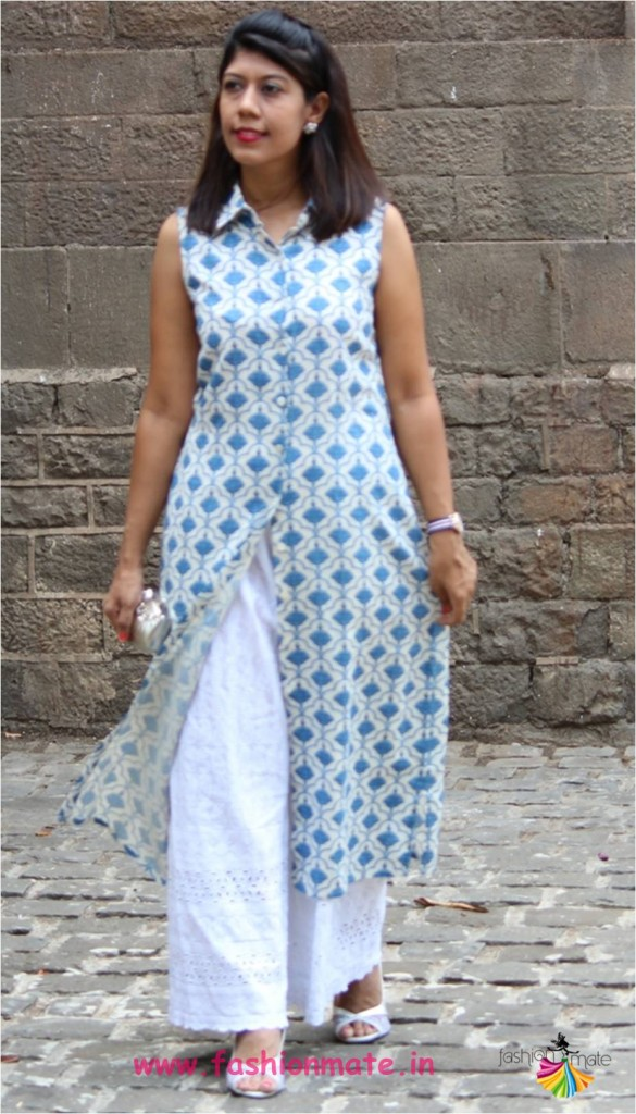 latest summer fashion trend 2017 - Buttondown kurta and Palazzo pants