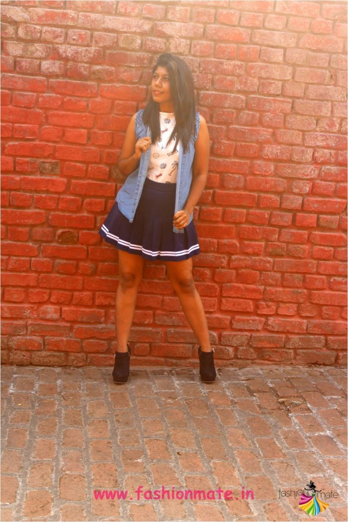 box pleat skater skirt - Indian fashion blogger monsoon tips
