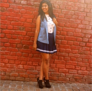 Hot Monsoon OOTD – Skater skirt & Boots!