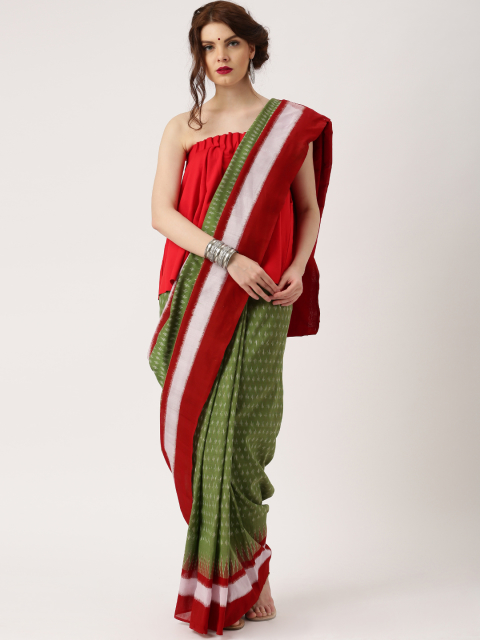 Wear with tube top - Different ways to drape a cotton saree