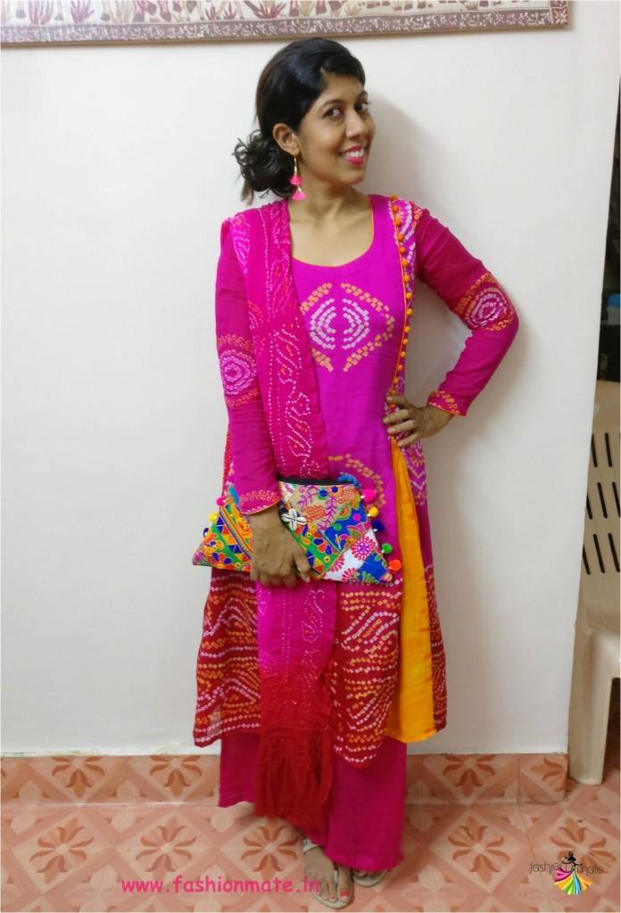 bandhani dress neck pattern 2017
