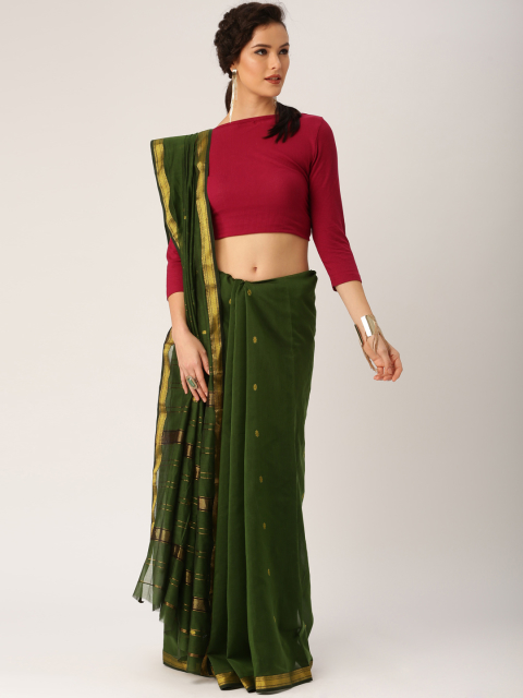 front pallu drape with sweatshirt - Different ways to drape cotton saree