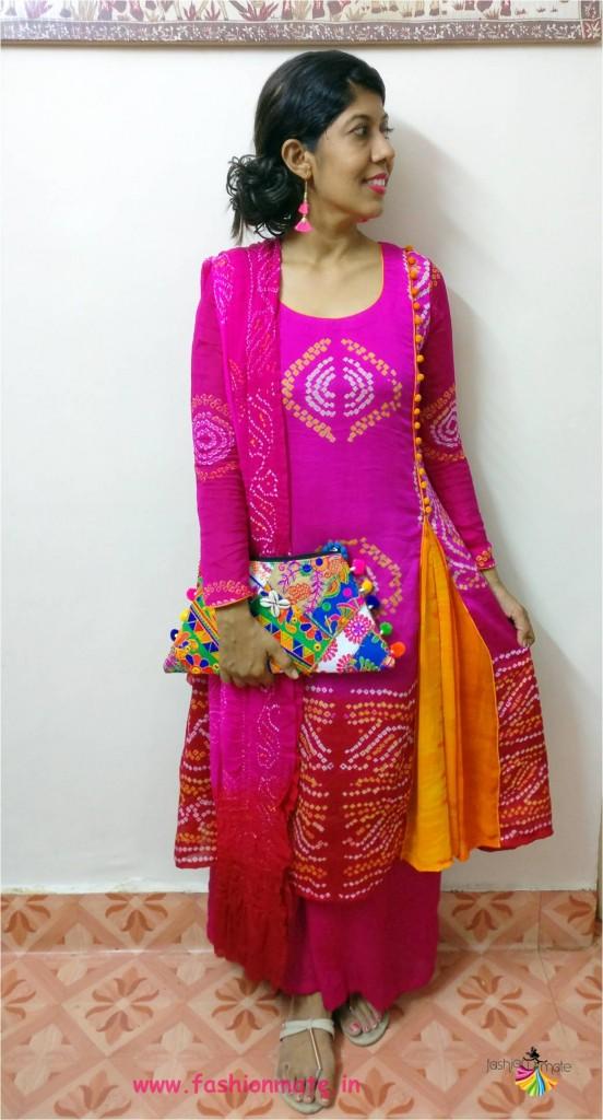 tiedye dress fashion pattern - indian bandhani dress