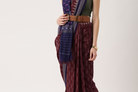 Funk up Traditionals – Different ways to drape a cotton Saree!