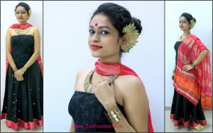 Indo-western look for navratri fashion - one outfit two styles
