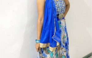 Navratri Day 3 Blue colour – Grey Blue festive Choli ghagra!