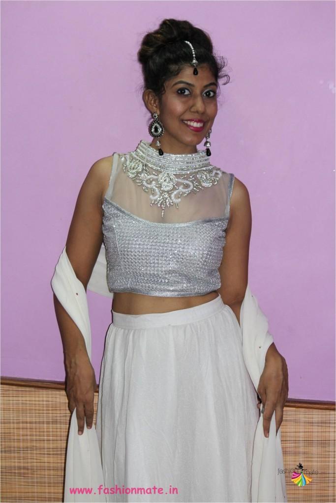 Navratri colours 2017 - white choli ghagra fashion