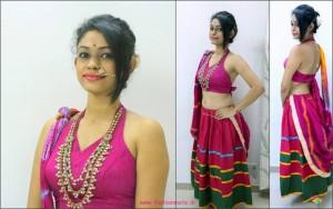 halter-neck modern navratri festival look - indian fashion trends