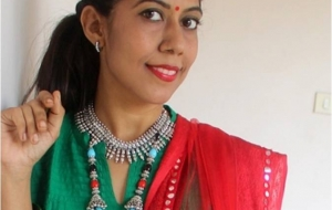 Day 2 OOTD – Festive work-wear for Navratri!