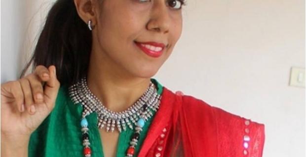 Day 2 OOTD – Festive work-wear for Navratri!