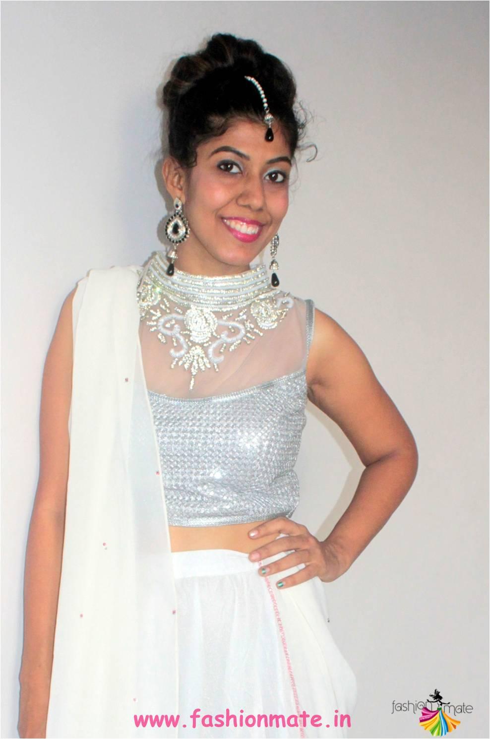 kundan bridal jewelry for navratri fashion