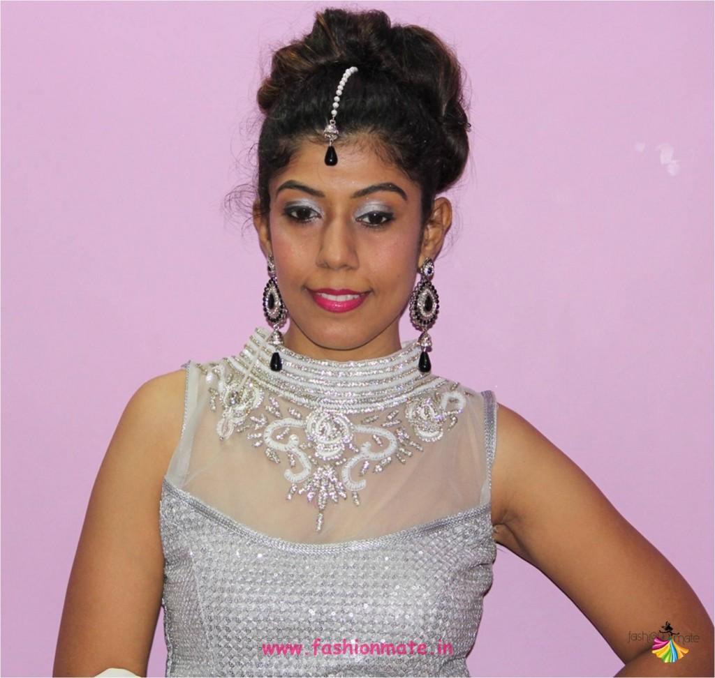 navratri day 4 white colour ghagra choli - Indian fashion blogger