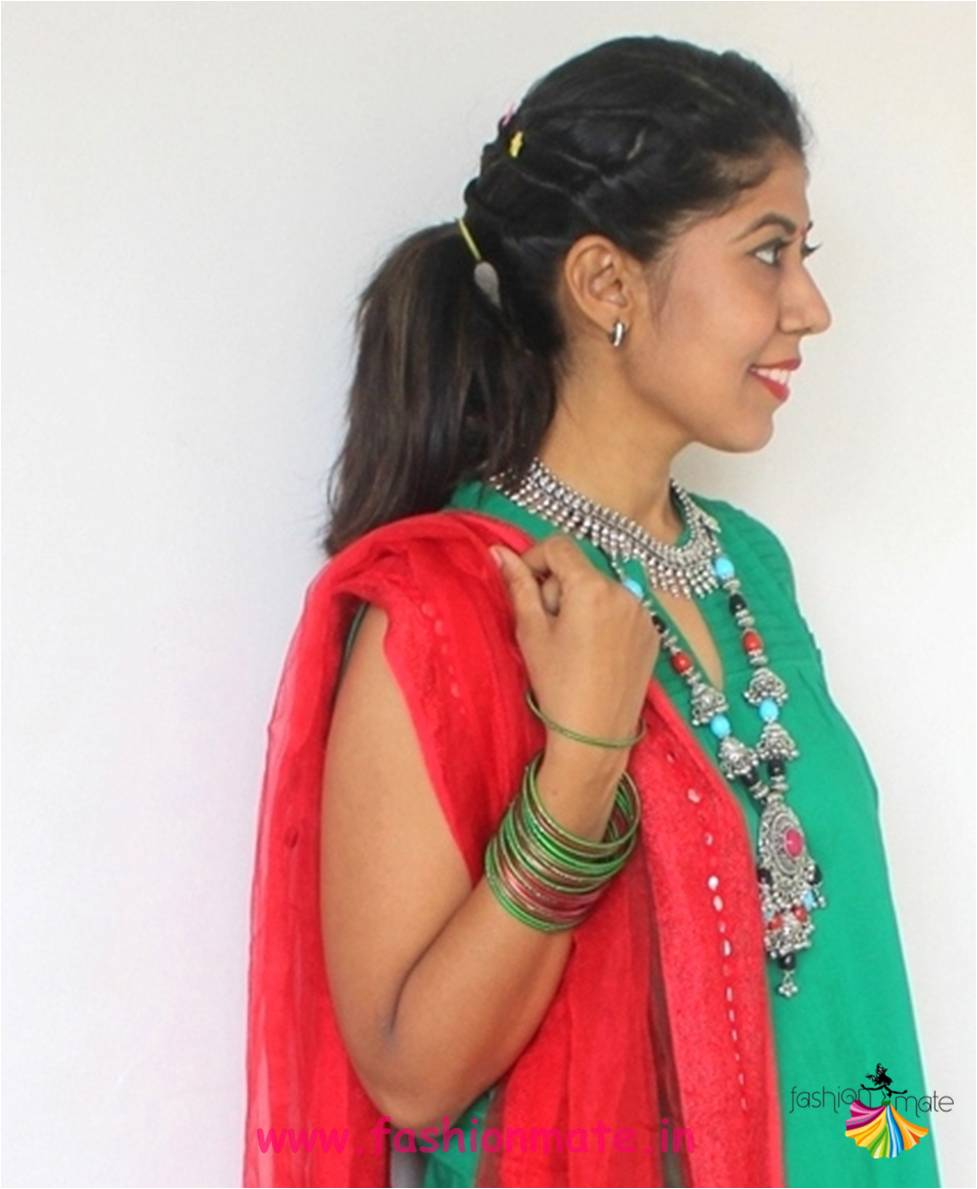 navratri festive hair style and make-up - Indian fashion blog