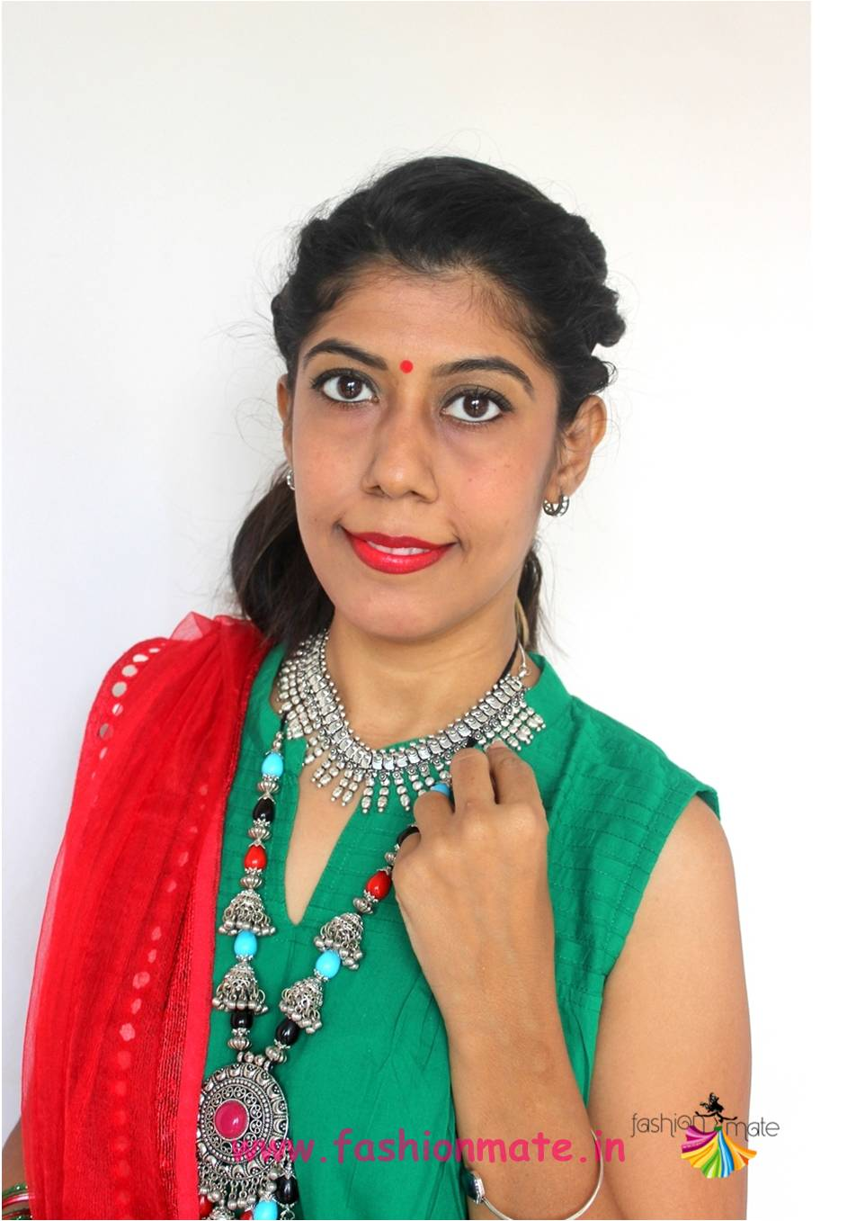 oxidized german silver ethnic jewelry for navratri fashion