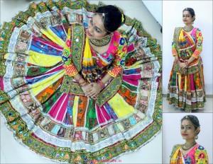 traditional ehtnic style chaniya choli - navratri fashion trends 2017