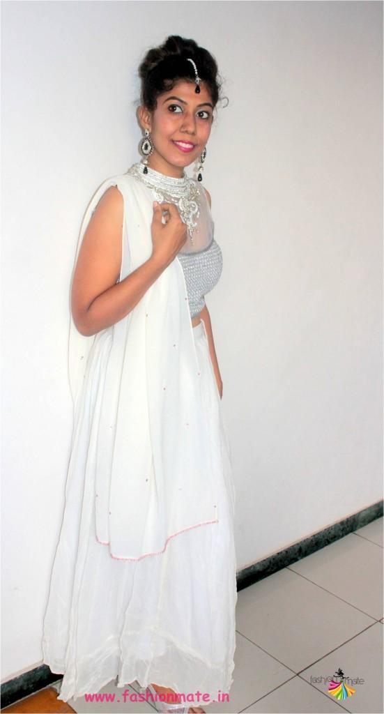 wedding fashion trends - white bridal lehenga 2017