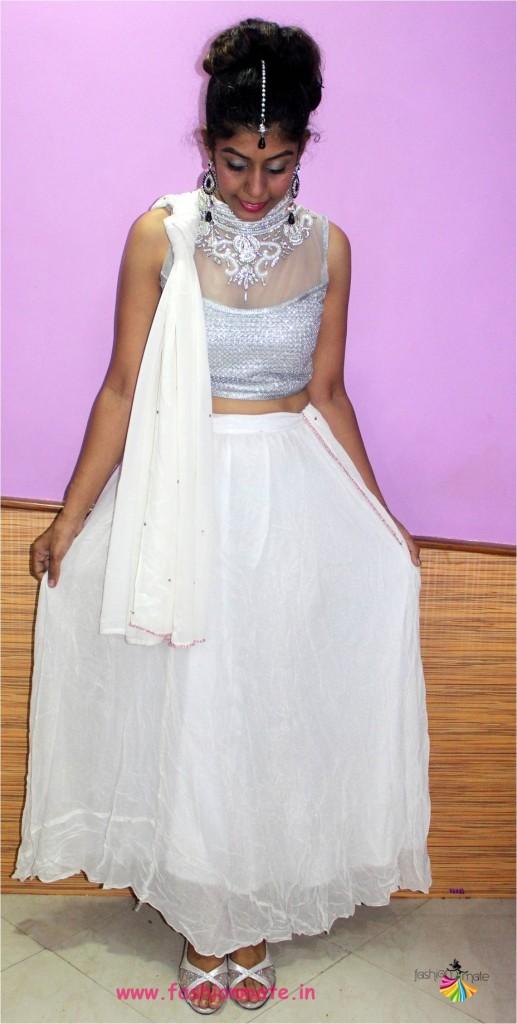 white wedding lehenga - Bridal fashion trends 2017