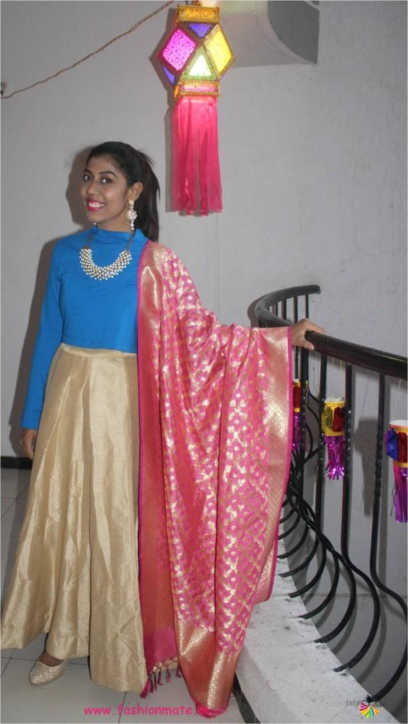DIY festive lehenga for Diwali - fashion remix and restyle