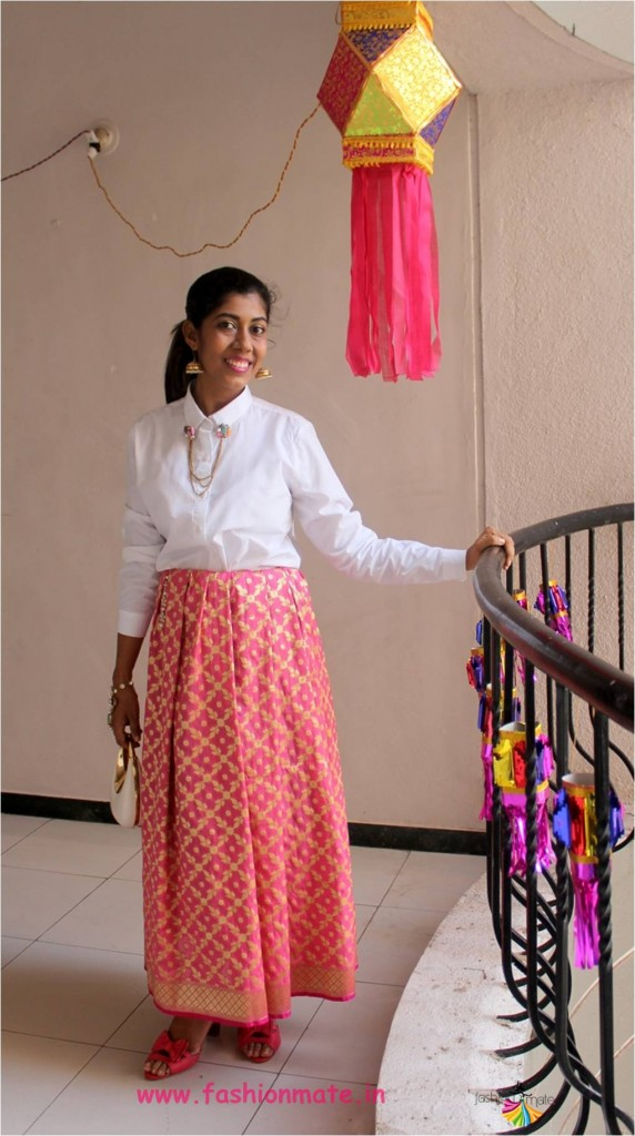 reuse your old dupatta as skirt   do it yourself fashion
