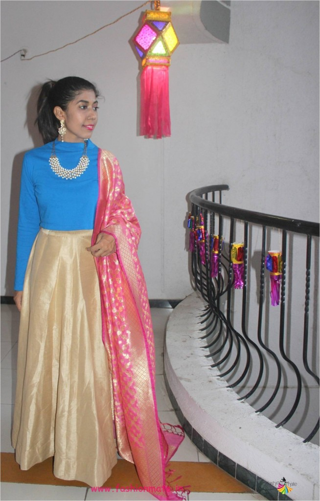 fashion restyle - DIY festive lehenga for Diwali 2017