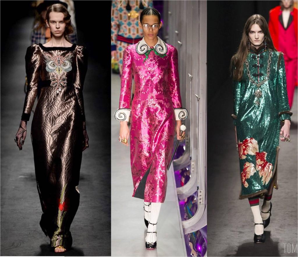 glitter metallics for autumn fall fashion 2017 - trend report