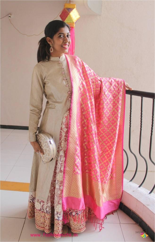 how to style a bandhgala jacket with lehenga - festive bridal fashion 2017