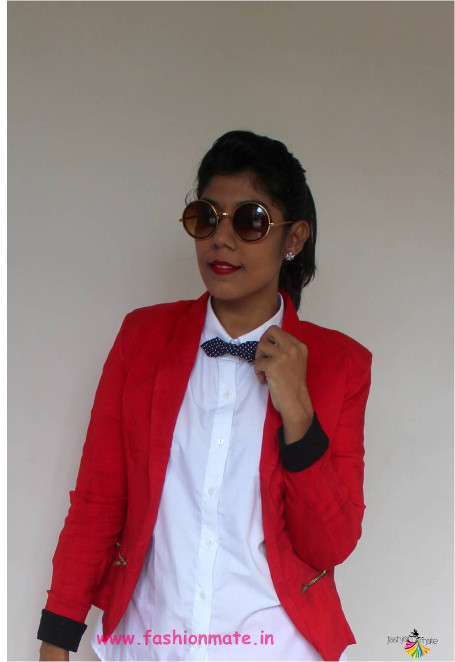 how to style a bow-tie - Indian fashion blogger style tips