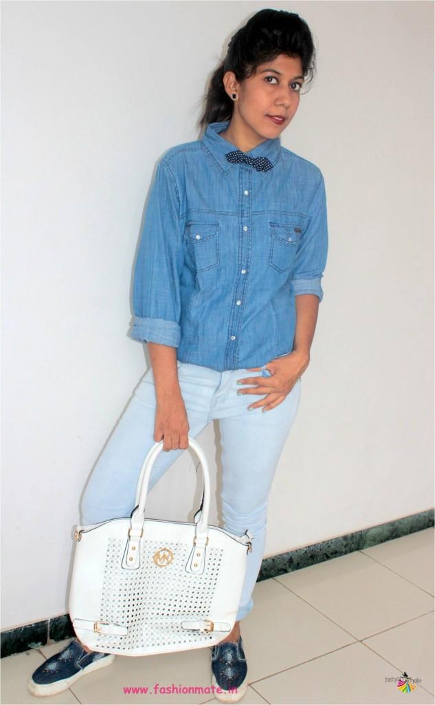 latest fashion trend - denim over denim style