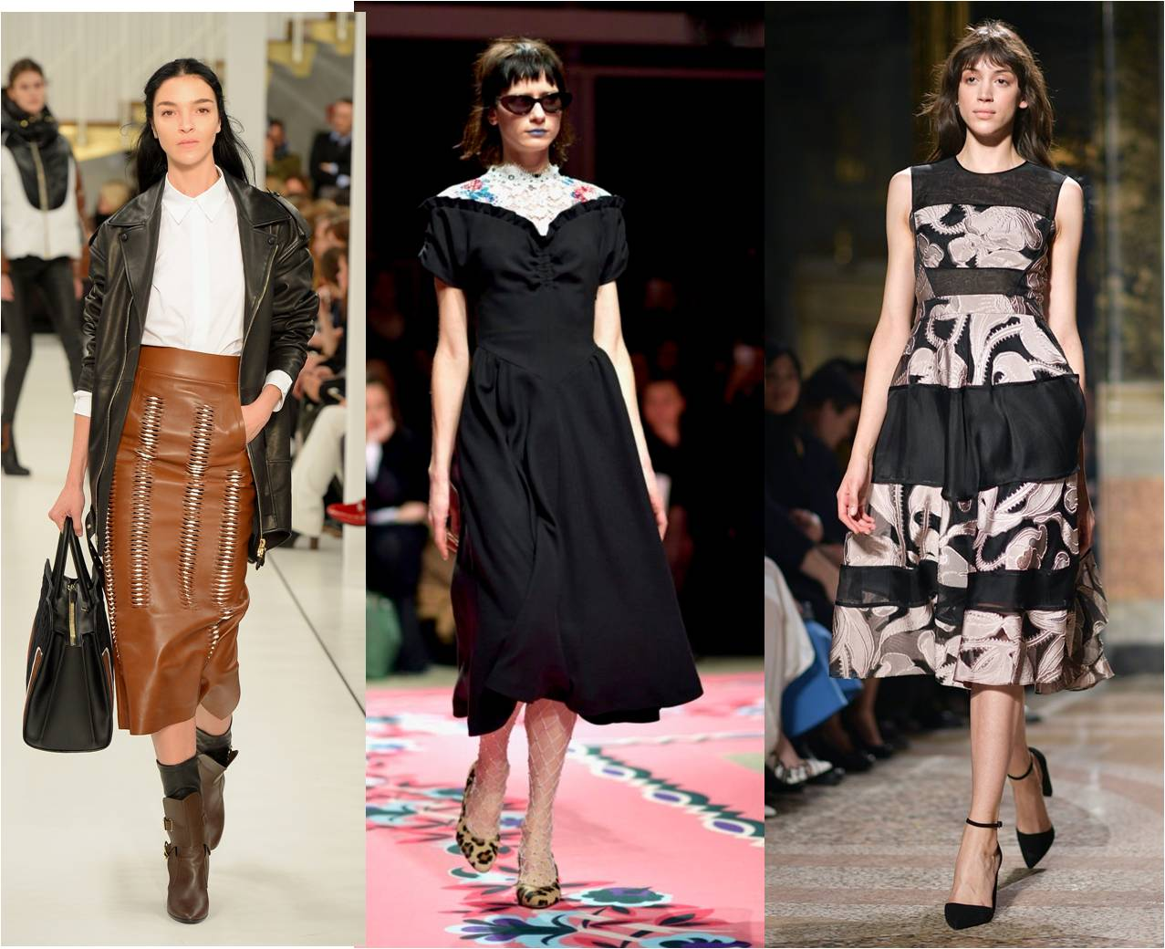 mid length skirts - autumn winter fashion trends 2017 -2018