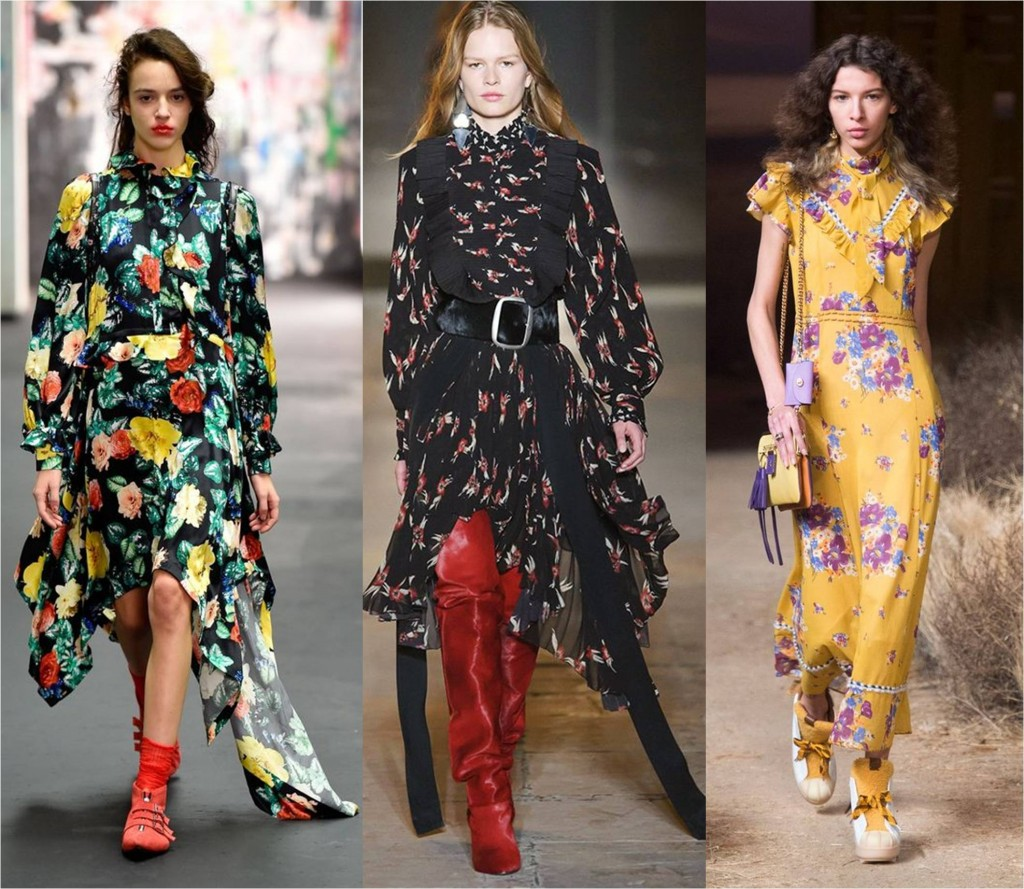 vintage florals - autumn fall fashion trends 2017 -2018