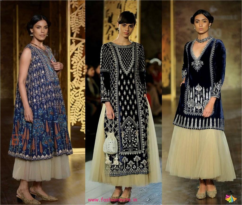 Indian tutu tulle skirt lehenga - bridal couture 2017 fashion trends