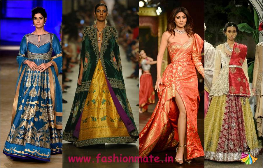 banarasi silk lehengas - latest bridal fashion trends 2017