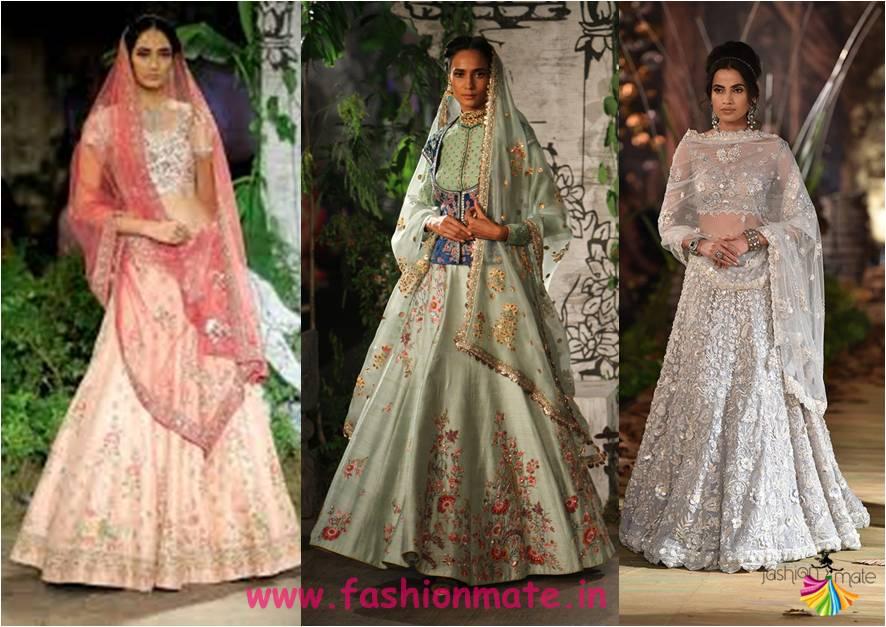 colour co-ordinated lehenga - latest bridal fashion trends india couture week 2017