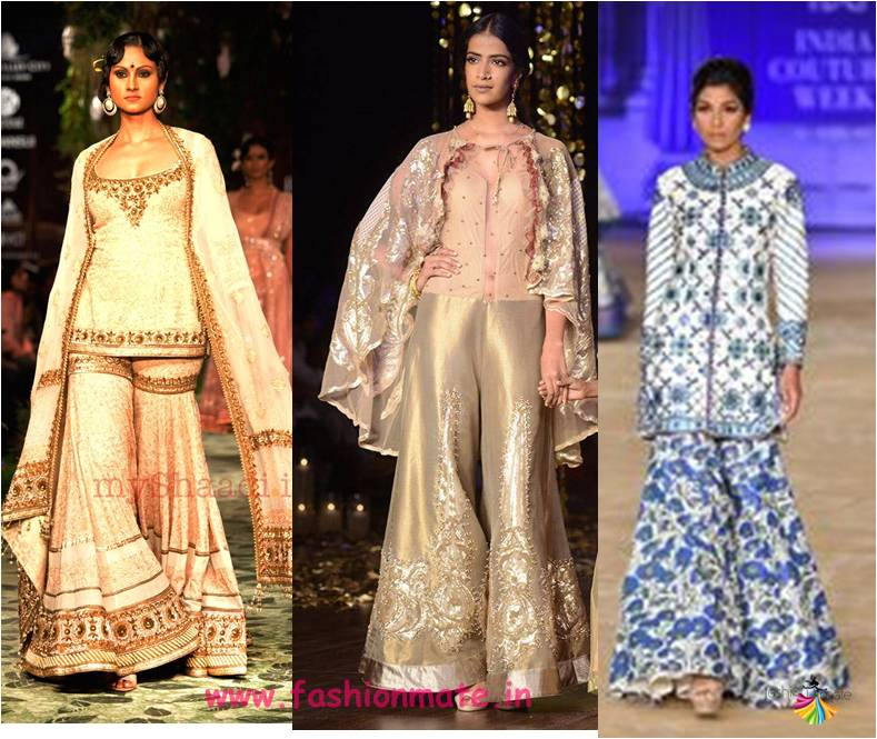 flare pant retro shararas at india bridal couture week 2017