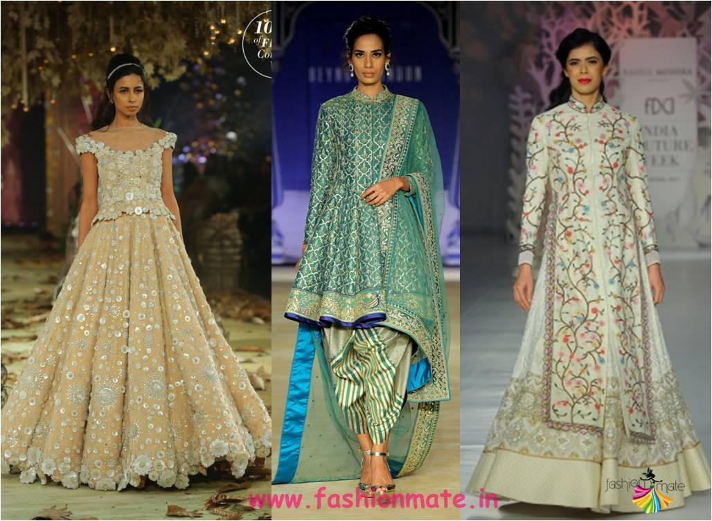 pastel hues cyan mint green lehengas - latest bridal fashion trends 2017