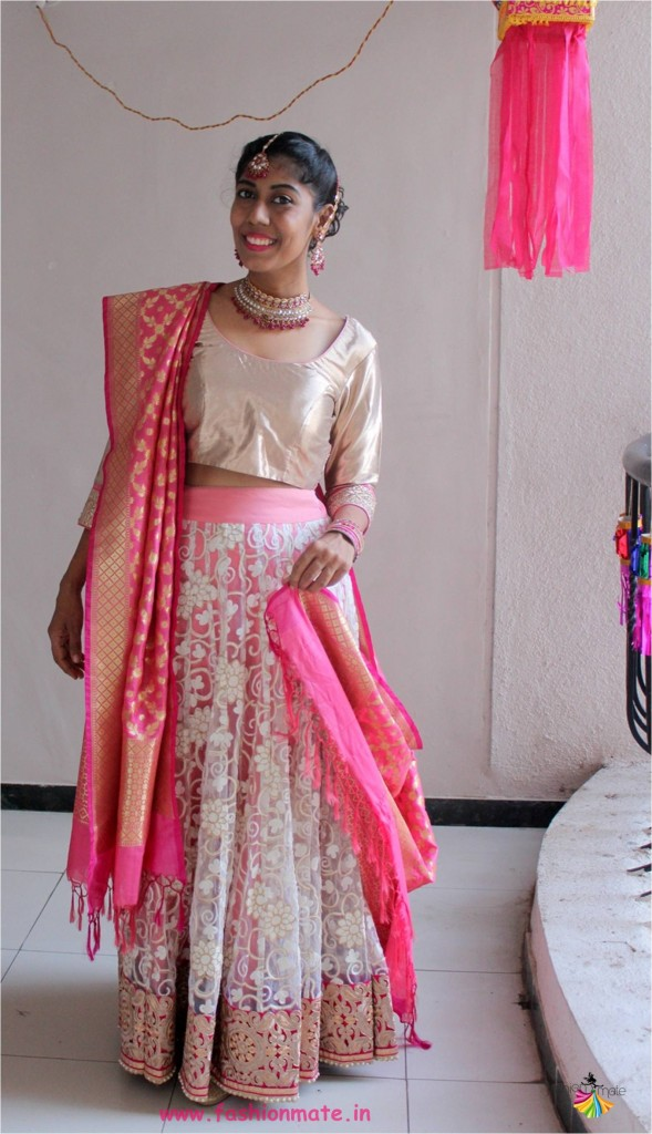 reuse your old clothes - how to design bridal lehenga from old saree