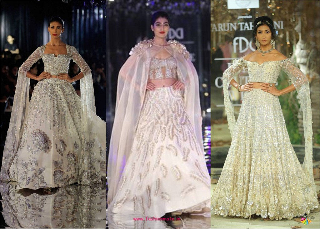 statement sleeves - latest bridal lehenga designs couture week 2017