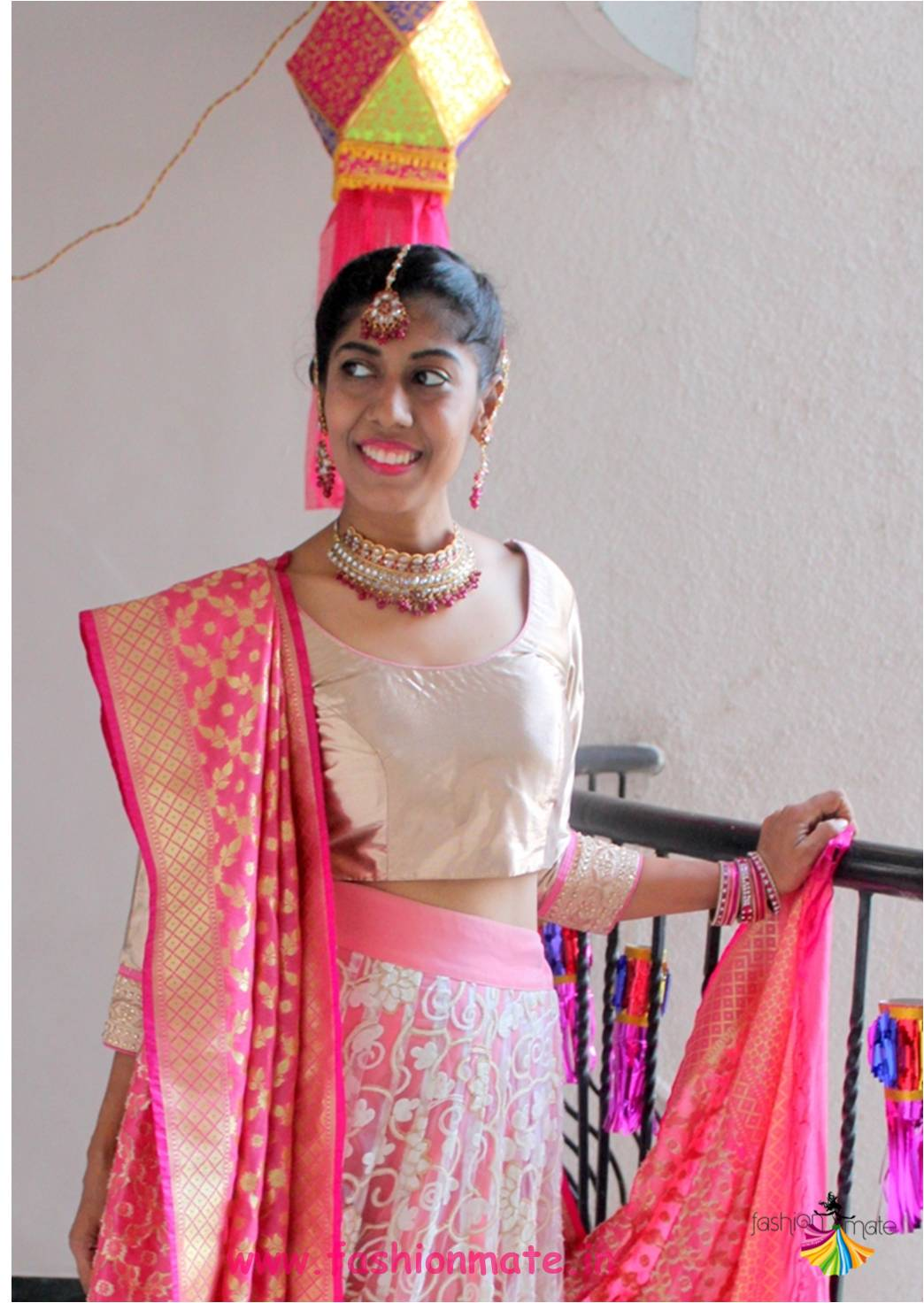 Wedding Season Special – DIY sister of Bride Lehenga from Mom's Old Saree!