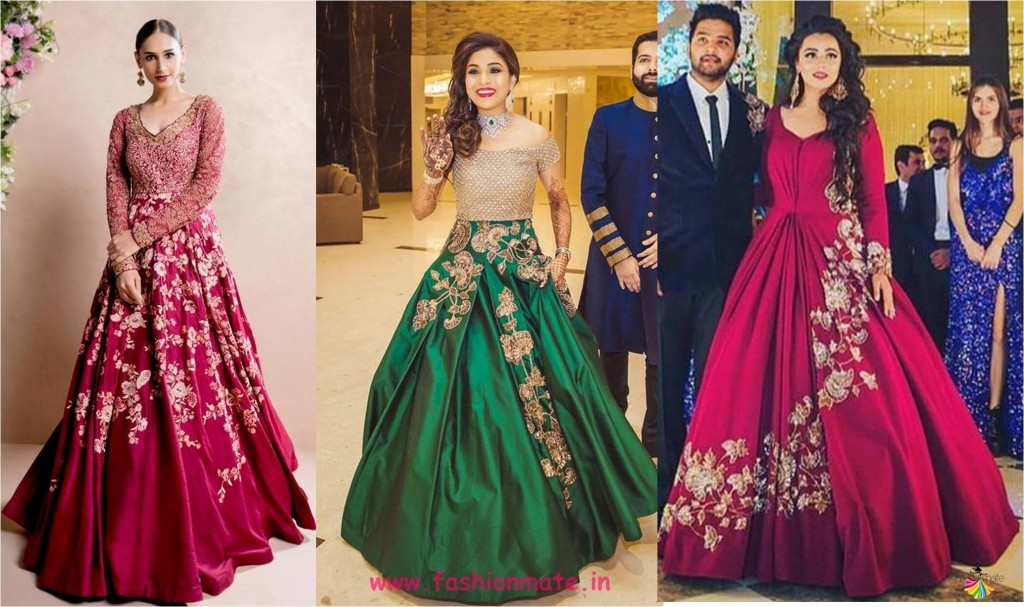ethnic embroidered ball gown