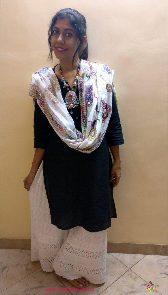 basic black kurta and ways to style it