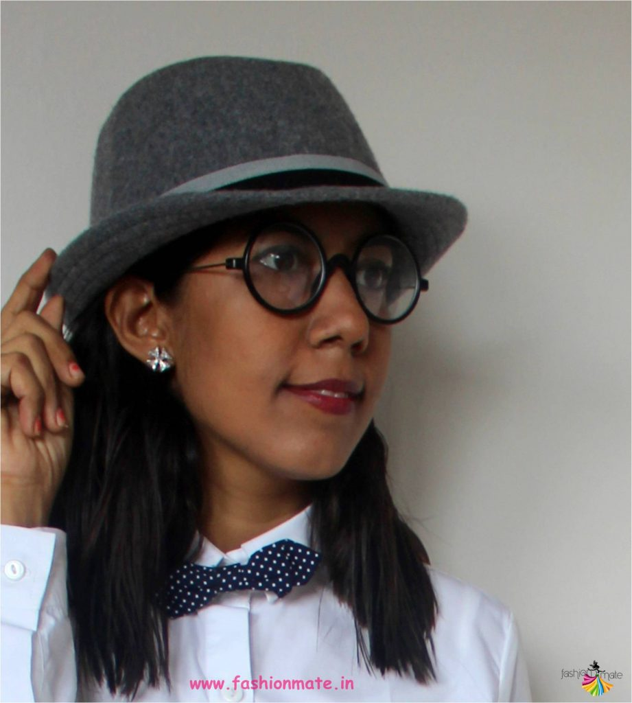 bowtie and fedora - womens fashion trend