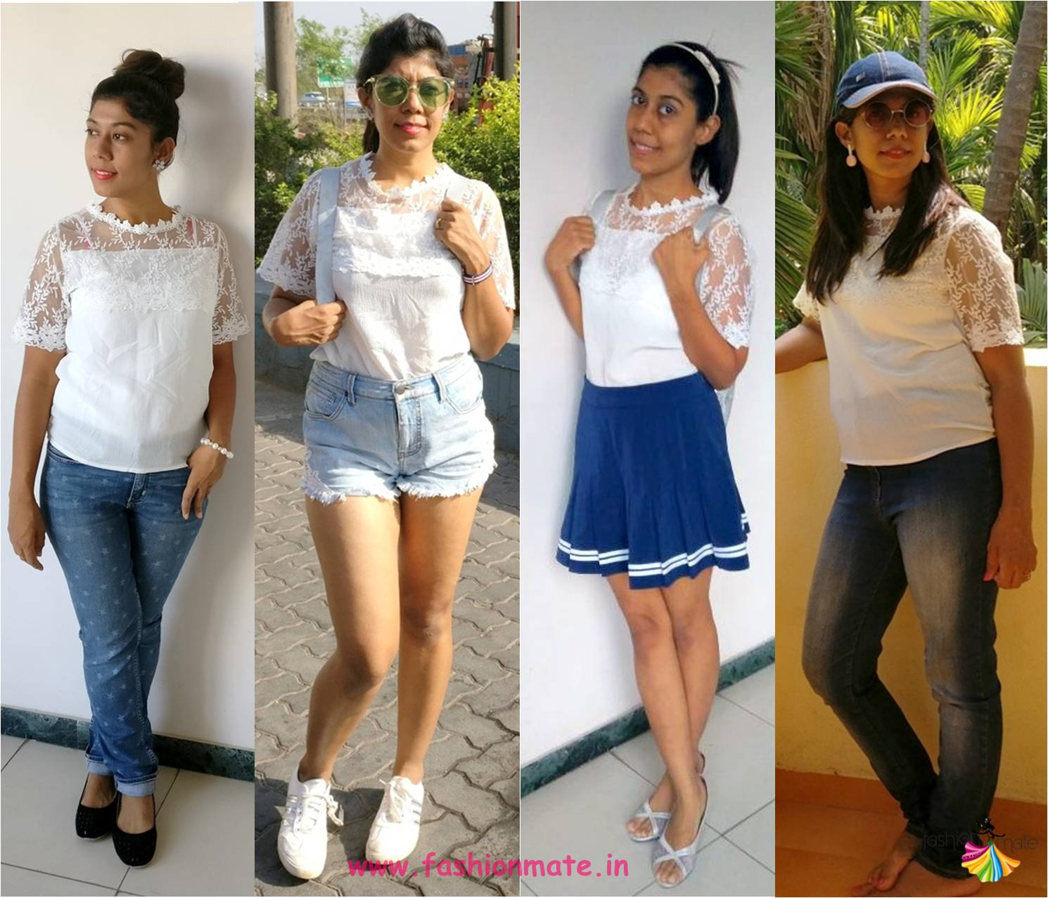 Monsoon Capsule collection – Four different ways to style a lace top!